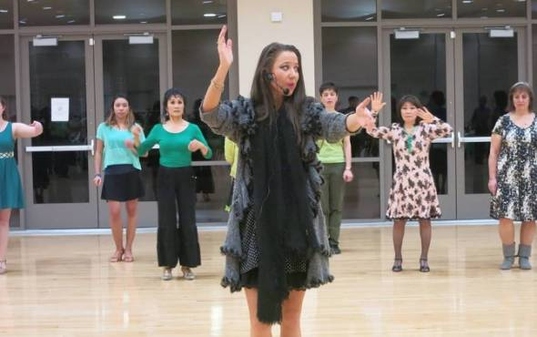 sophia leading a group lesson