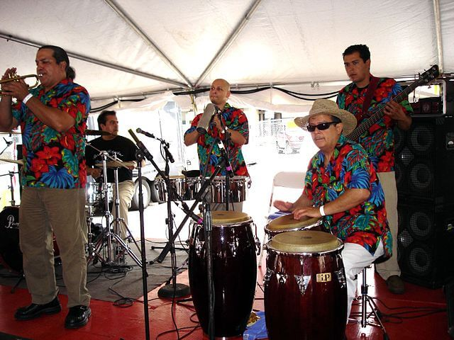 salsa musicians performing